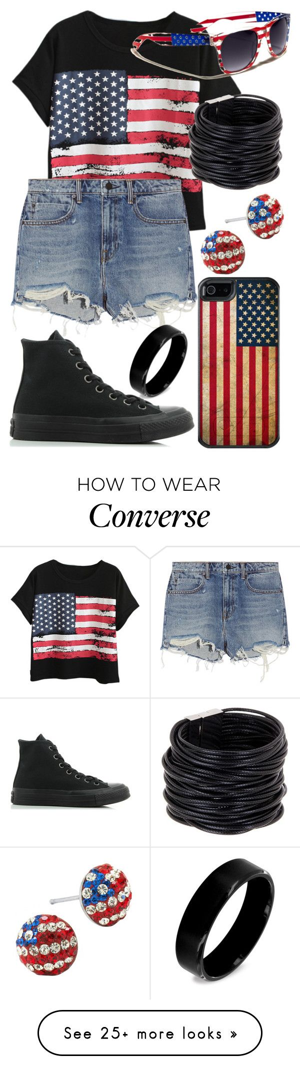 """""""Don't Wanna Be An American Idiot (Song By Green Day)"""" by arithegeek11 on Polyvore featuring Chicnova Fashion, Alexander Wang, Converse, OtterBox, Saachi and West Coast Jewelry"""