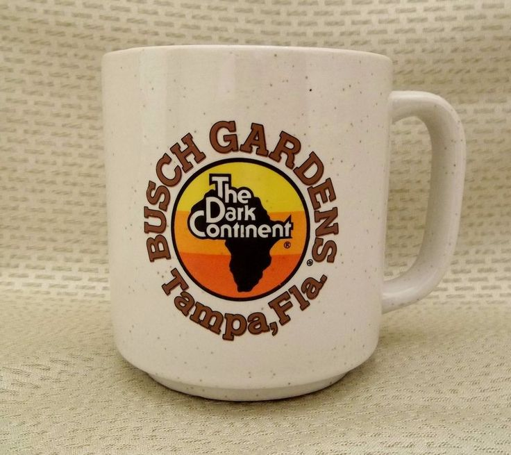 Vintage 1982 Busch Gardens Tampa Florida Coffee Mug The Dark Continent Cup