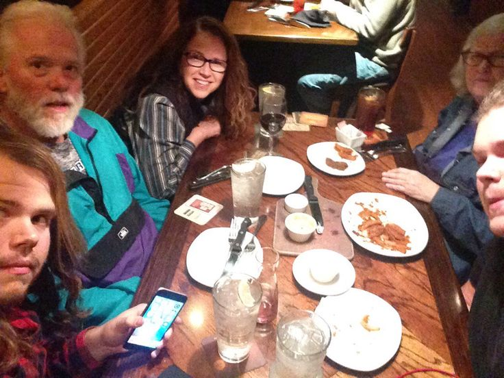 Hail, hail the gangs all here @Outback in #Asheville NC #steak #fridaynight #family