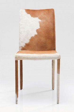 KARE Prague - Leather Chair Fur Brown