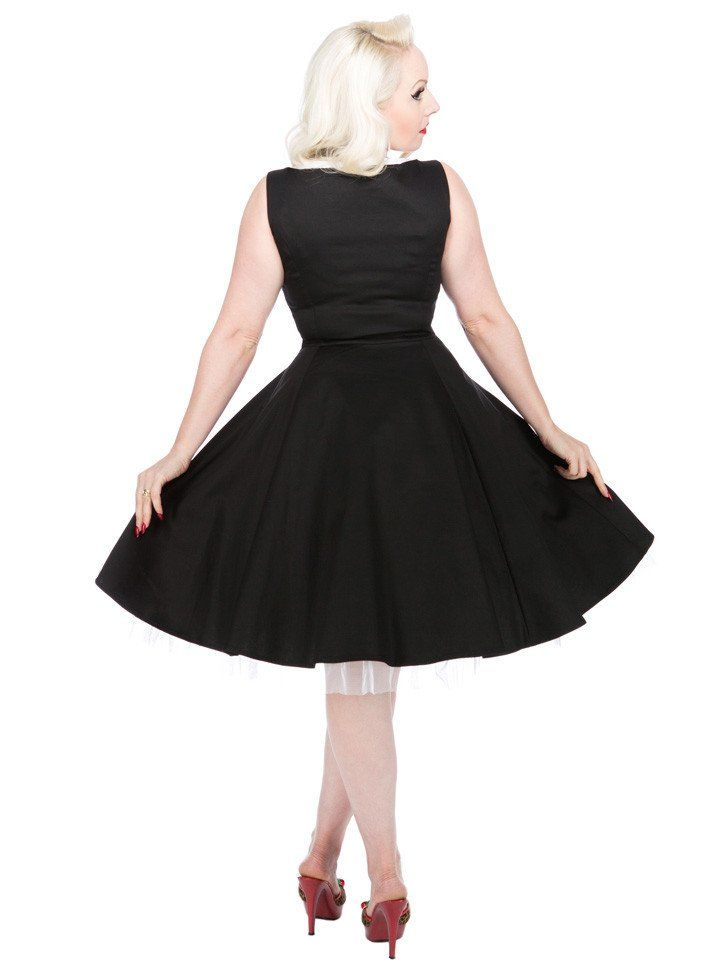 """Women's """"Scallop"""" Party Dress by Hearts & Roses (Black) 
