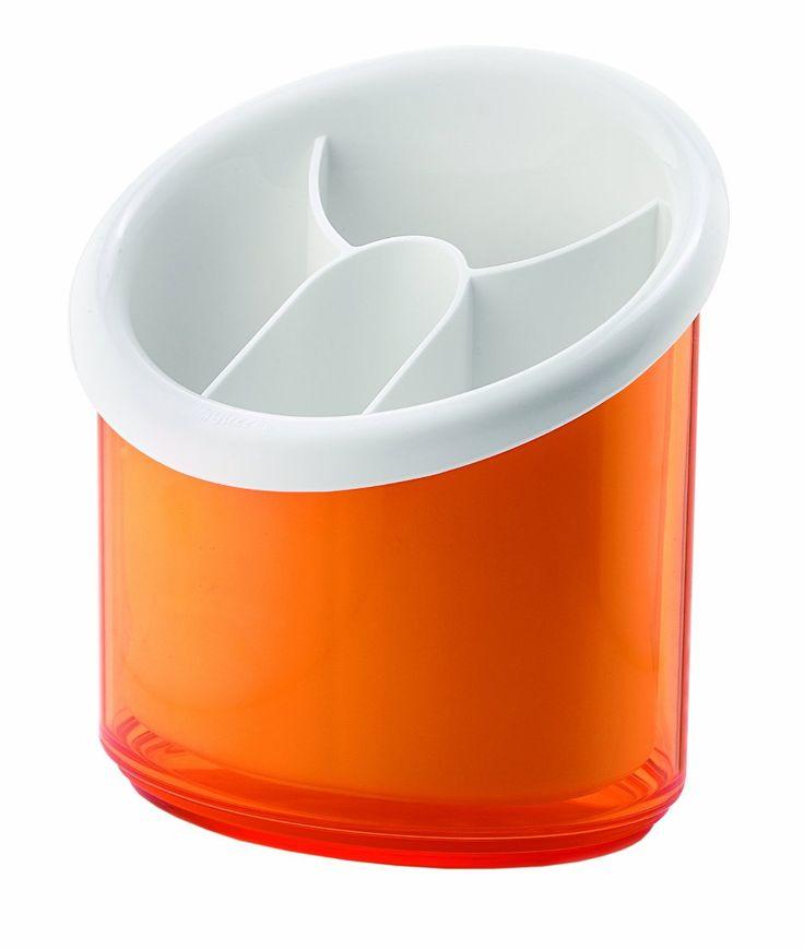 Guzzini 16750045 Egouttoir à Couverts Orange Transparent 16,5 x 16 x 12,5 cm: Amazon.fr: Cuisine & Maison