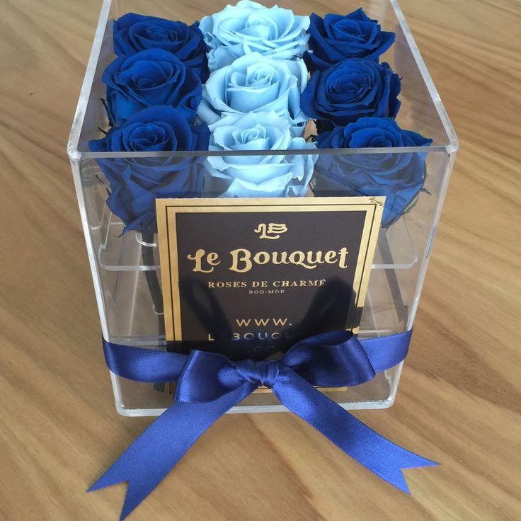 Presentación en acrílico por 9 rosas estándar que duran 1 año Le Bouquet