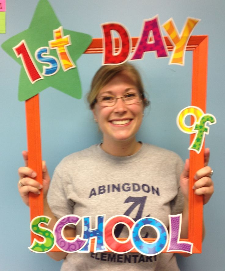 Frame I made for the first day of school - thought I could change the star out and take pictures on the 100th day and last day, and put all three pictures together in a collage.