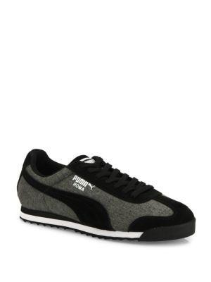 PUMA Roma Denim Low-Top Sneakers. #puma #shoes #sneakers
