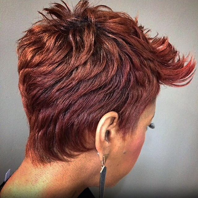She couldn't keep the hair for long... Pixie... #naturalhairstylesforshorthair