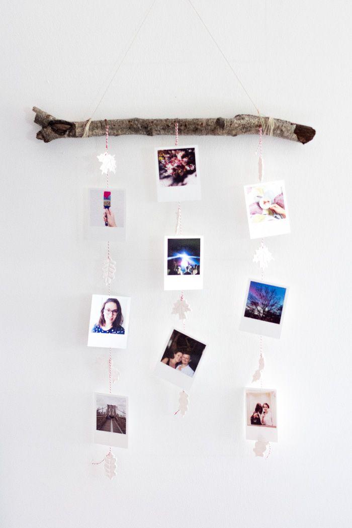 hängende Polaroid-Bilder