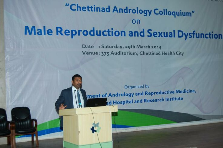 Presentation by Dr Vijayasarathi at Andrology Colloquium  Dr Vijayasarathi R, Medical Director, Bloom Healthcare, Chennai was recently invited by the Department of Reproductive Medicine at the Chettinad Healthcity to give a talk on 'Psychotherapy and Sexual Medicine'. The event, 'Andrology Colloquium' was organised on 29 March at Chettinad Hospital, Kelambakkam and was attended by more than 150 professionals.