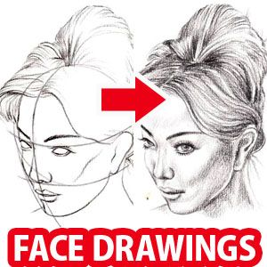 How to Draw a Face : Here's a simple way to place the features accurately when drawing a head. First draw a vertical line down the middle of the face. Then draw a horizontal line halfway between