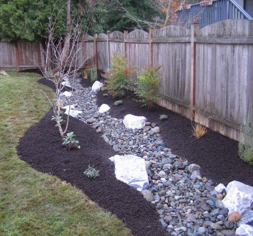 32 Backyard Rock Garden Ideas: Drainage Trench Becomes A Stream