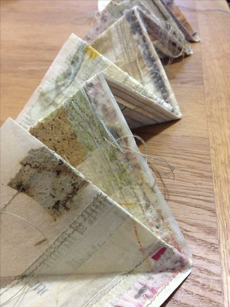 'Twenty-two years and twelve' Kate Boucher, collage and stitch, treasures and found objects. Concertina sketchbook.