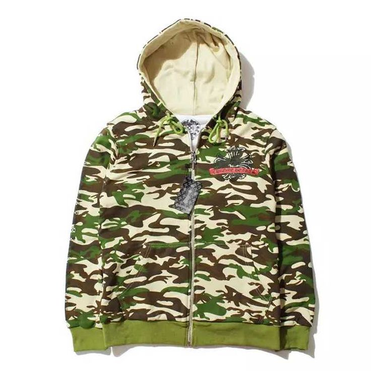 Chrome Hearts Cotton Camouflage Pattern Hoodie Sale