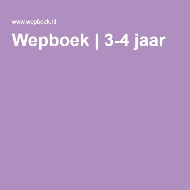 Wepboek | 3-4 jaar