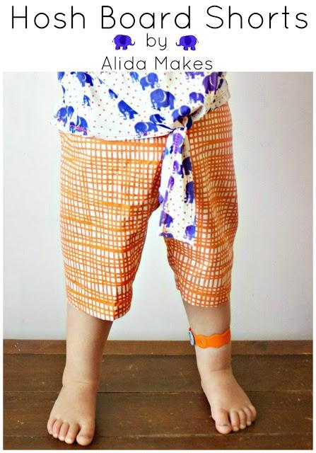 Alida Makes. Hosh board shorts tutorial: Sewing Baby Kids Clothing, Loubeecloth Sewing, Clothing Bibs, Shorts Tutorials, Clothing Kids, Diy Clothing, Crafts W Sewing, Boards Shorts, Hosh Boards
