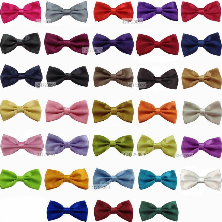 On Sale Tuxedo Classic Bowtie Solid Color Neckwear Adjustable Men's Bow Tie W006