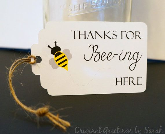 Mommy to Bee Favor Tag Bee Baby Shower by OriginalGreetings, $7.00