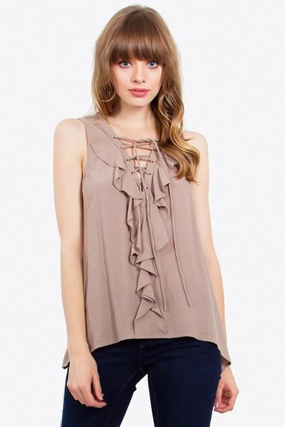 LOUISA RUFFLE TOP - The Shop For Her