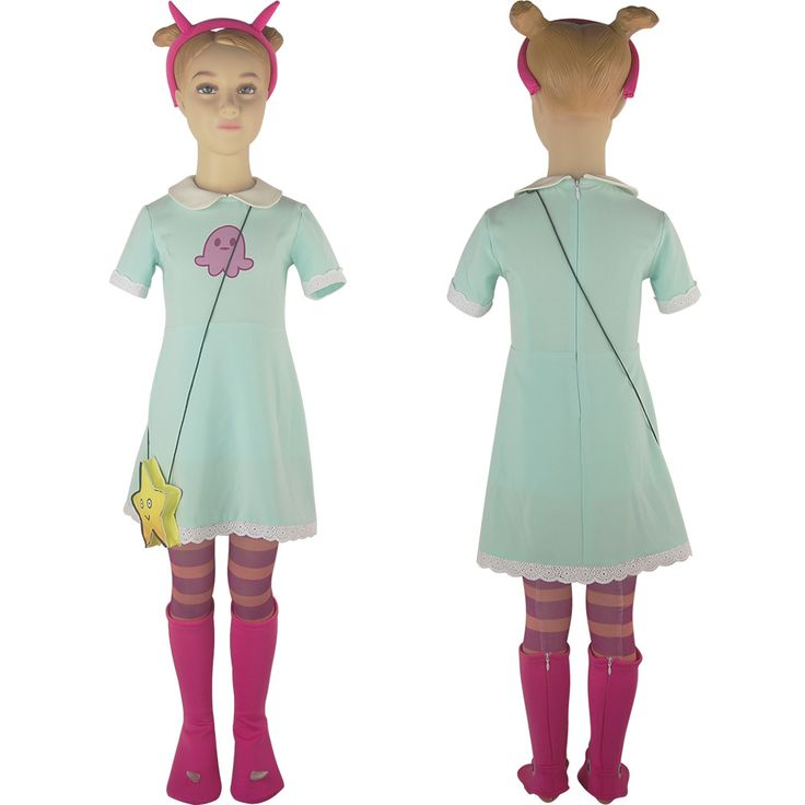 Kids Girls Star vs. the Forces of Evil Princess Star Butterfly Dress Halloween Cosplay Costume