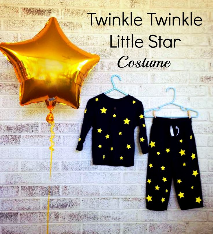 Awesome and Easy Twinkle, Twinkle Little Star Costume. Perfect for those hard to please toddlers in your life.