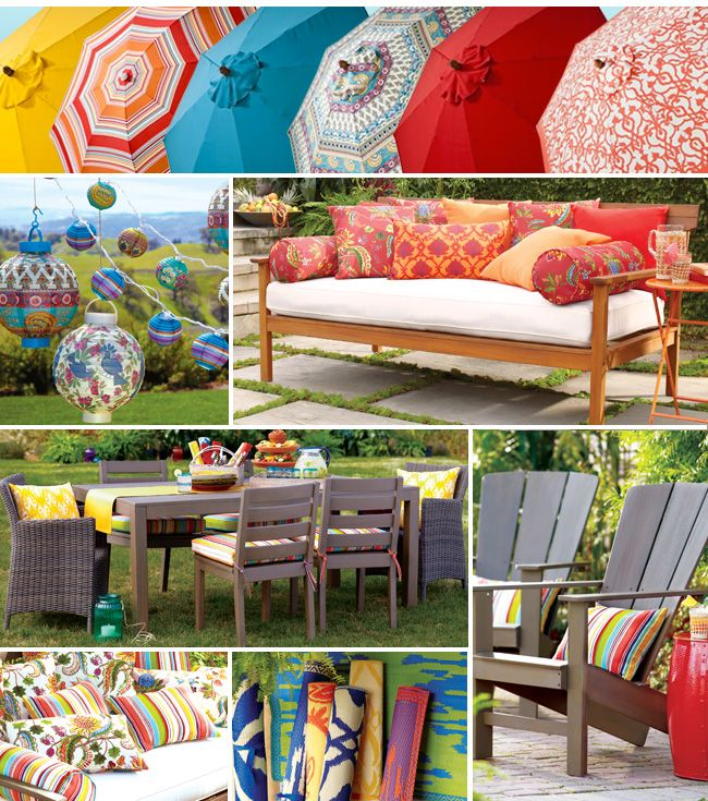 Colorful outdoor cushions from World Market