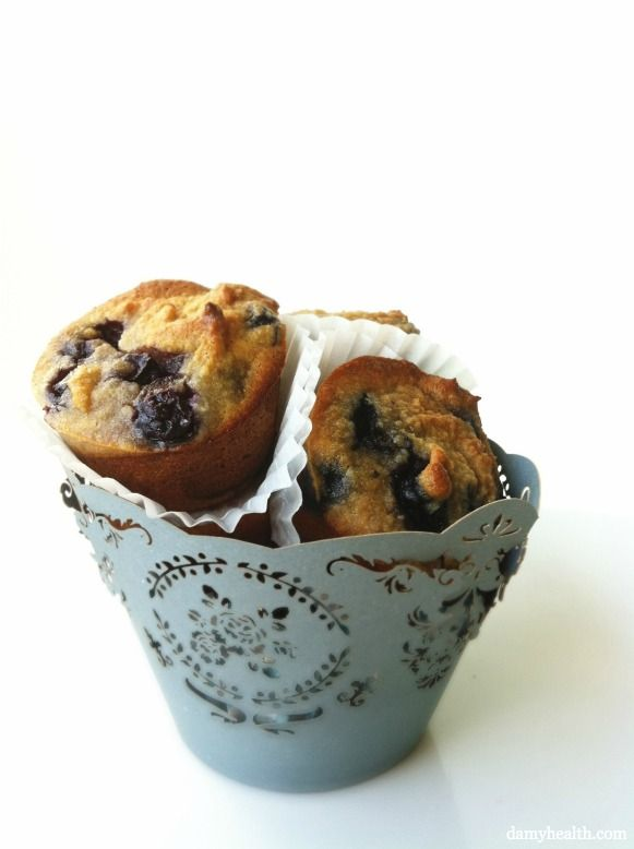 The Best Almond Flour Blueberry Muffins
