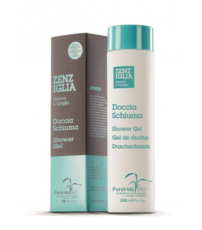 LATTE CORPO ZENIGLIA Il Doccia Schiuma Zenziglia Puravida Bio è un vero cosmetico detergente a base di Zenzero e Vaniglia, che pulisce e nutre la pelle profumandola con dolci note speziate.