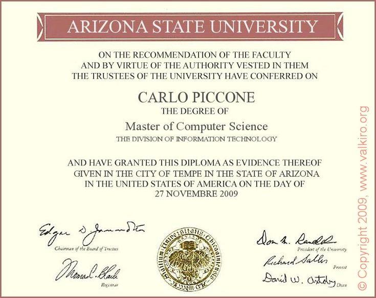 Diploma Doctorate Degree Graduation Certificate Template