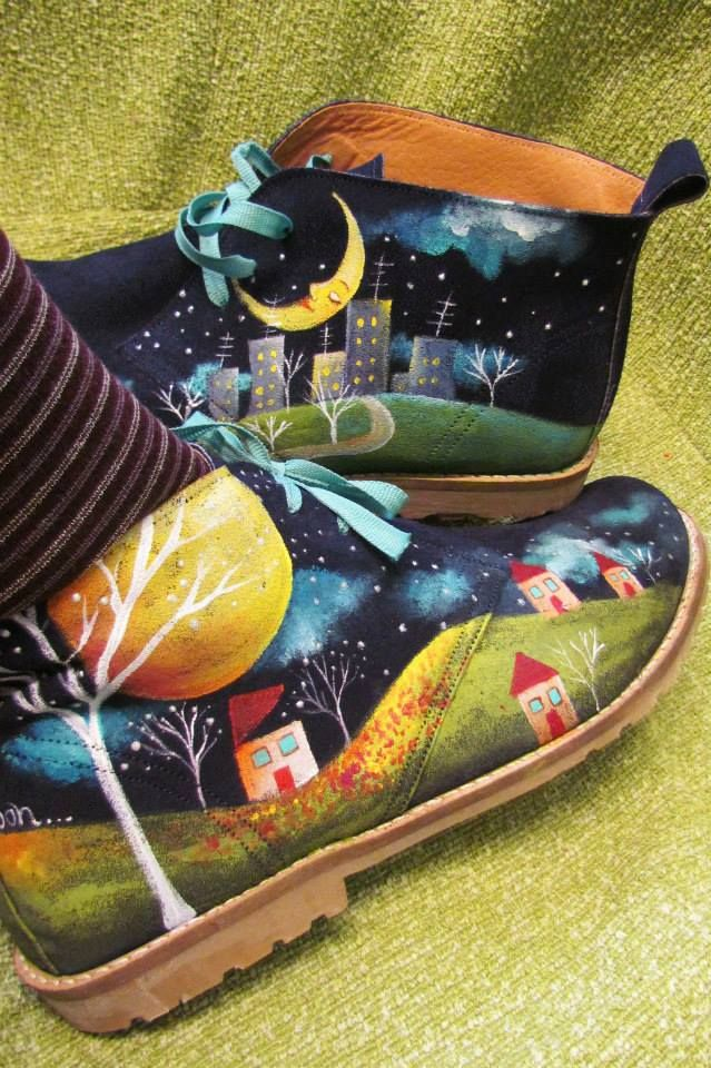 handpainted leather shoes!