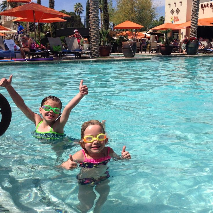 The kids give the pool at The Wigwam Resort Two Thumbs Up! Click through for the full review