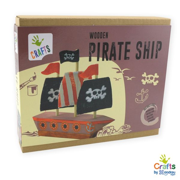 AndreuToys - Wooden Pirate Ship