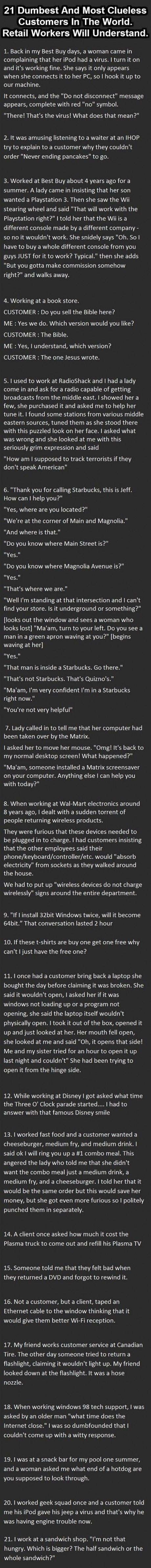 21 Dumbest Customers Ever