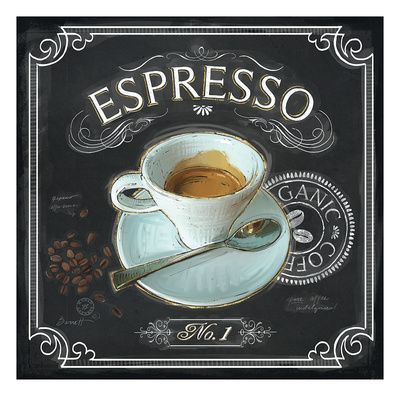 Coffee House Espresso Gicléedruk van Chad Barrett bij AllPosters.nl