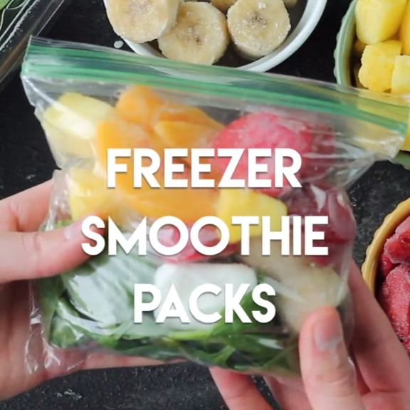 Prep these freezer smoothie packs, and while you're prepared, simply add milk, water, or juice!