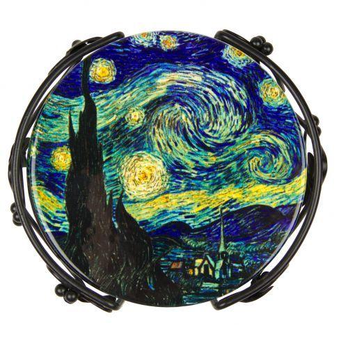 Vincent van Gogh: Starry Night, Coaster Set