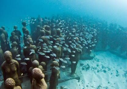 Cancun's Underwater MuseumCancun Mexico, Buckets Lists, Dreams Places, Beautiful Places, Underwater Museums, Amazing Places, Underwater Sculpture, Cancun Underwater, Places Mexico