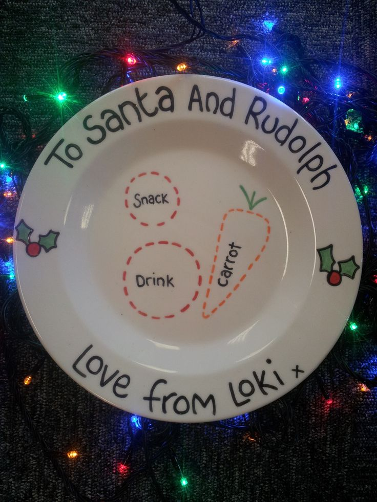 Personalised Christmas Plate by Crafty Monkeys in Penrith, Cumbria.