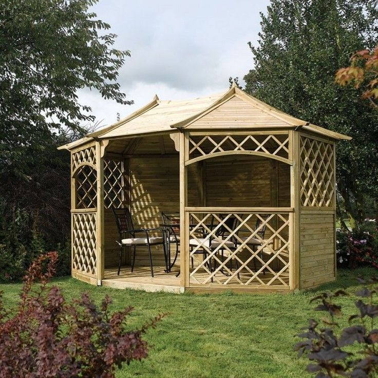 Garden Wooden Gazebo Outdoor Patio Large Shade Structure Dining Pavilion Shelter