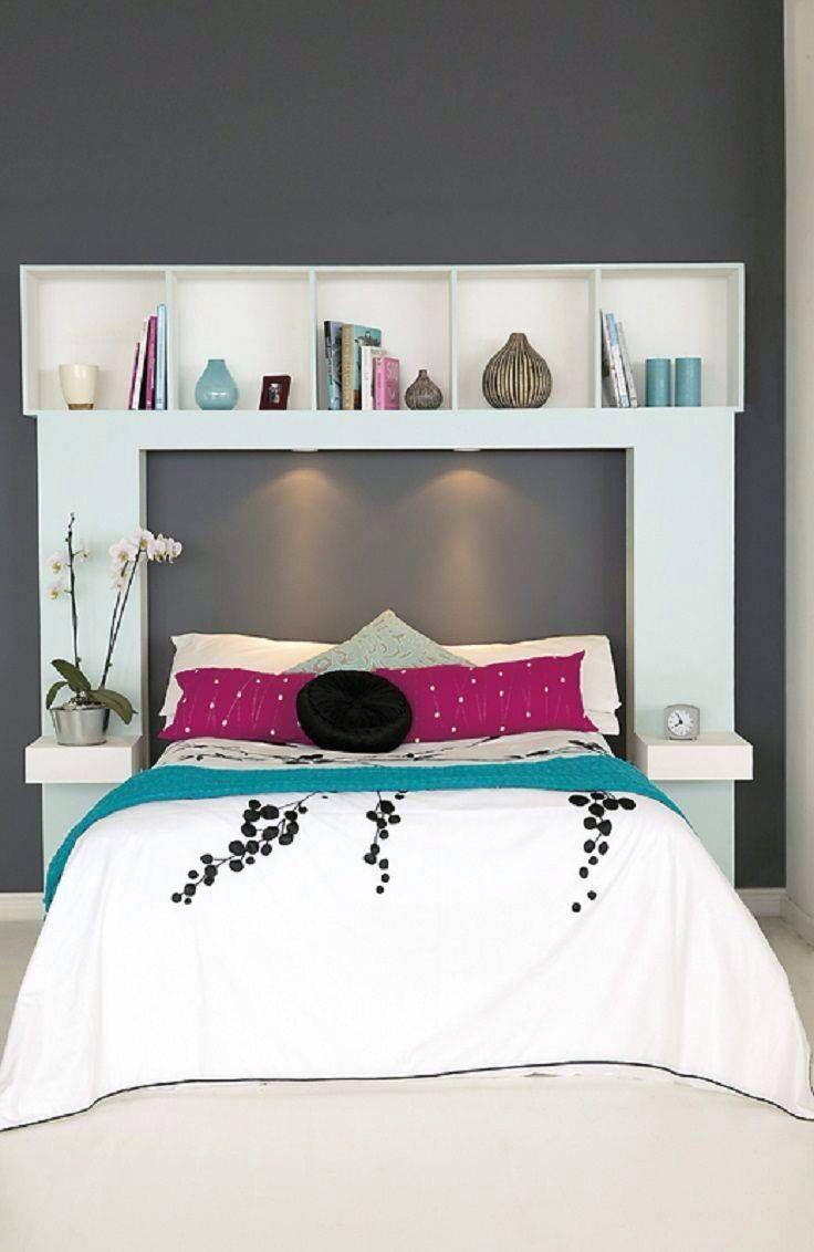 Bedroom Designs Simple Picture Bed Headboard Bookshelf