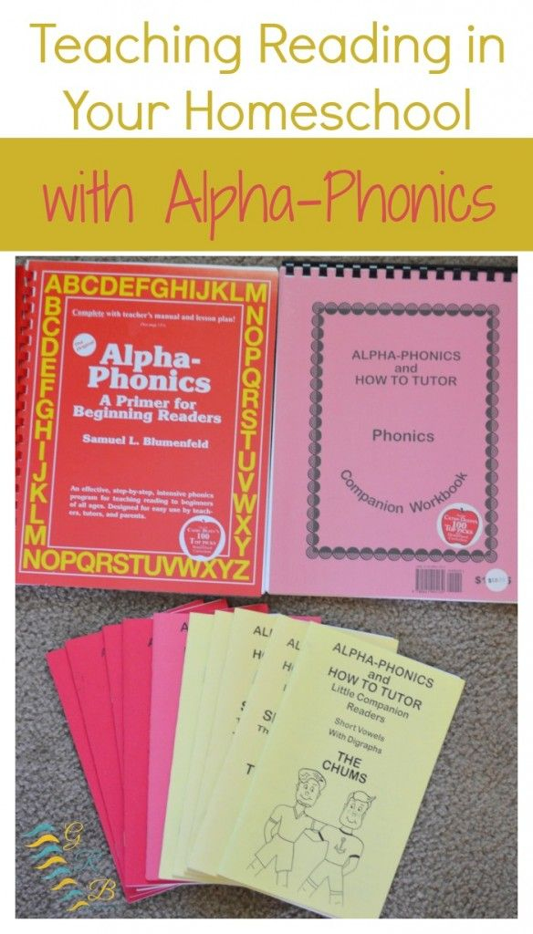 Wondering how to teach phonics? Check out Alpha-Phonics for teaching reading in your homeschool!