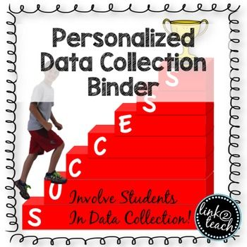Data Collection is huge in today's classrooms!  Involving the students int the collection, reflection, and goal setting process is key!  This editable cover, chart pages, and 7 steps to success poster will help kick start your data collection program!