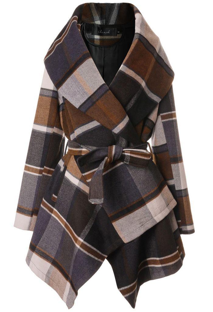 Prairie Check Rabato Coat by Chic+ - Retro, Indie and Unique Fashion