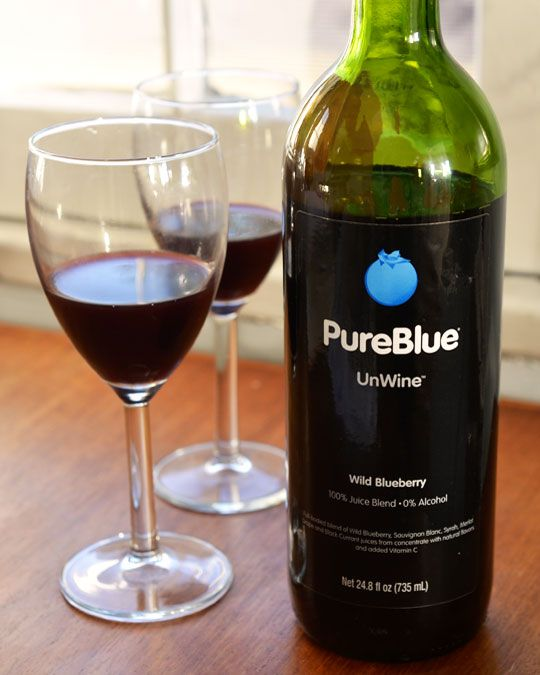 This looks delicious..but probably $$$$$$$ PureBlue Unwine with Wild Blueberry: A Non-Alcoholic Wine Substitute.