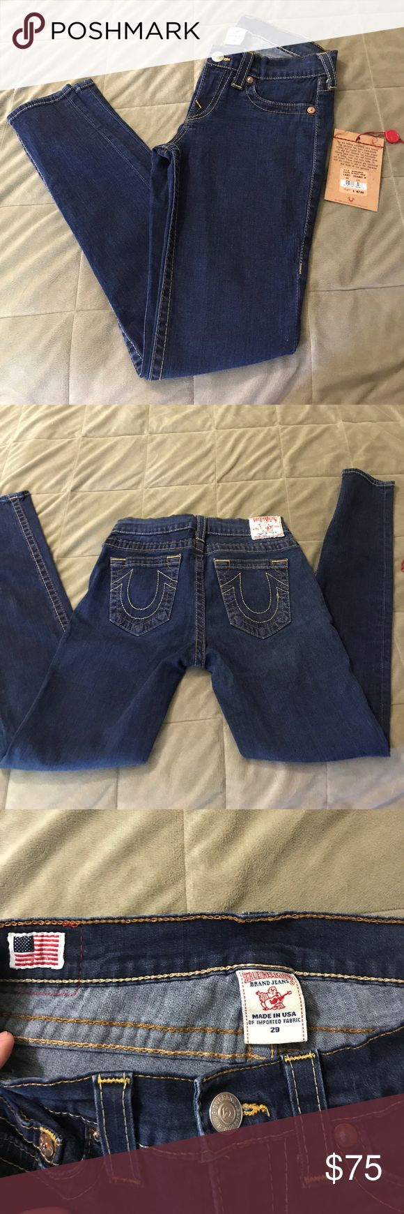 SALE🎉True Religion Casey Denim Leggings NWOT Attached but present. I've tried to wear these but the rise is just too low for me so I've decided to sell. Excellent Condition! Dark Rinse. Size 29. True Religion Jeans Skinny