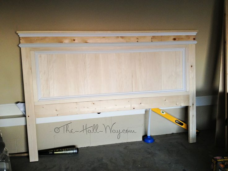 headboards diy it is painted with satin white latex enamel