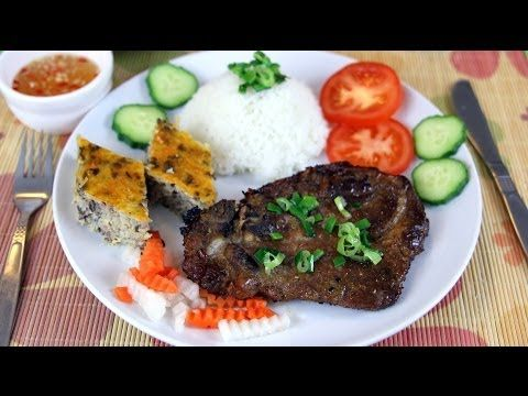 Vietnamese grilled pork chop and meatloaf. This is a must try dish!! It will quickly become one of your favourite pork chop recipes :)