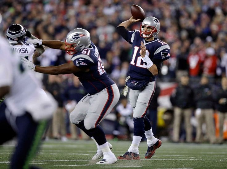 Seahawks vs. Patriots:  31-24, Seahawks  -  November 10, 2016  -   New England Patriots quarterback Tom Brady passes against the Seattle Seahawks during the first half of an NFL football game, Sunday, Nov. 13, 2016, in Foxborough, Mass.