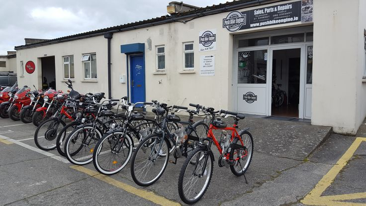 www.pushbikeengine.ie - Bikes with style Welcome to our shop in Dublin. We have in stock ready bikes brand new!!! - Mountain bike, - City bike - Cruiser bikes - Bike with jackshaft - Bike hybrid between electric & petrol engine Just in PBE you can find best after sale service with professional advice. NOTE: We have in stock one bike second hand, serviced in perfect condition! Just €350 !!! Our address: Ravensdale park. Kimmage. Dublin 12. KCR - Industrial Estate. Unit 52a.