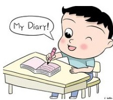 It is writing a diary! Just write what did you happen today!
