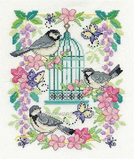 Buy Oriental Birdcage Cross Stitch Kit Online at www.sewandso.co.uk