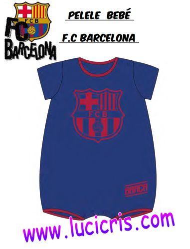 Pelele FC BARCELONA Verano Azul Escudo Granate